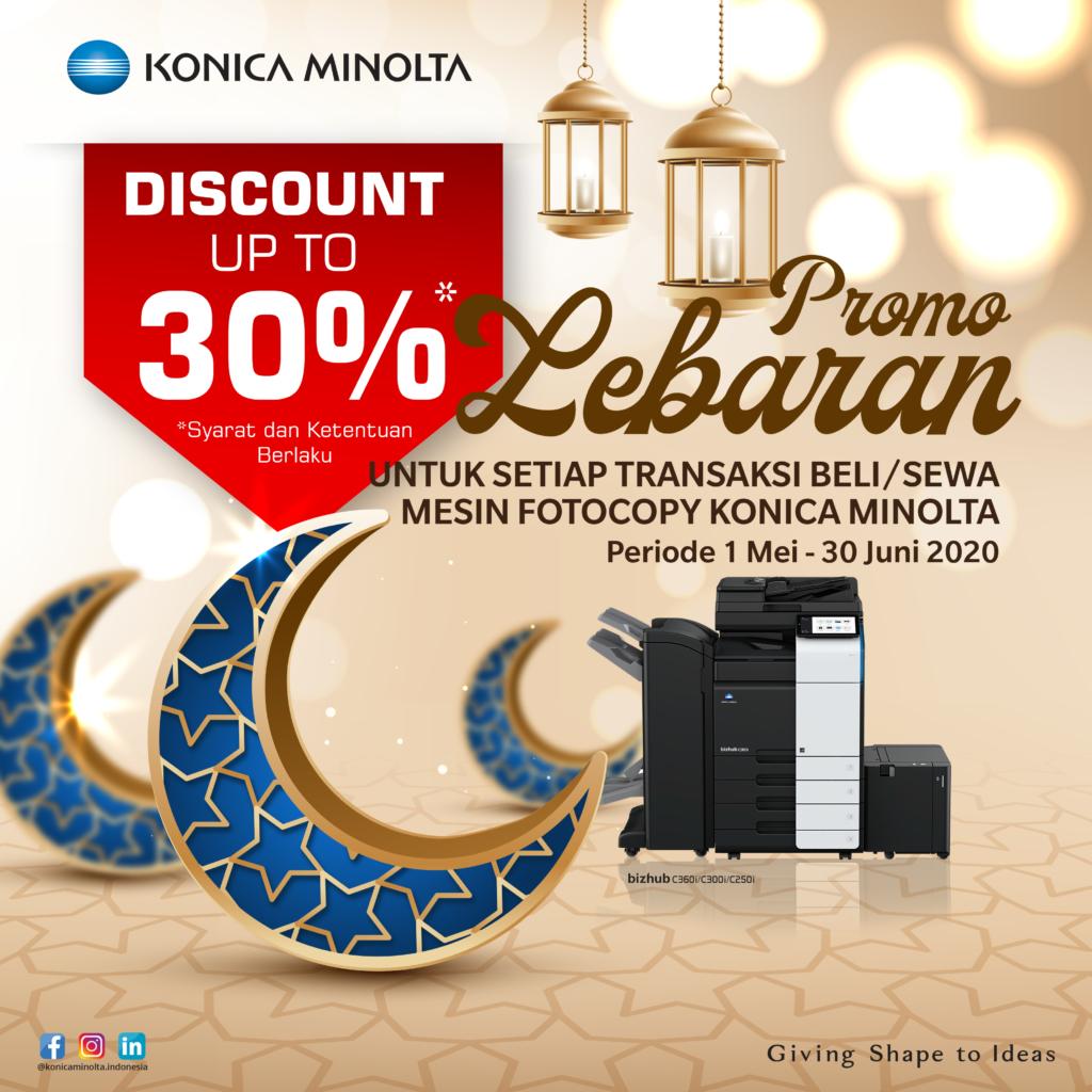 Promo Lebaran Untuk Setiap Transaksi Beli/Sewa Mesin Fotocopy Konica Minolta Periode 1 Mei - 30 Juni 2020